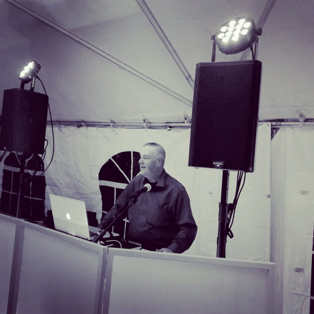 Professional DJ during performance