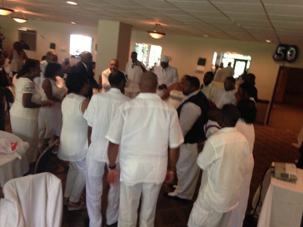 All dress white party