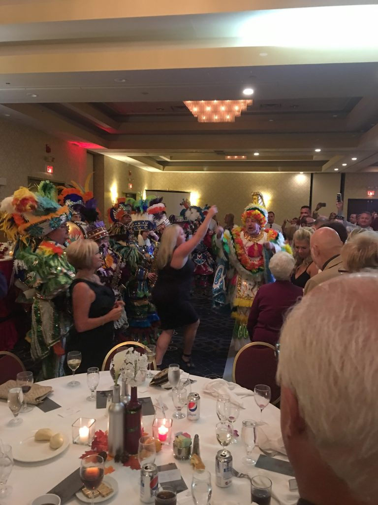 Philadelphia Mummers at a wedding reception