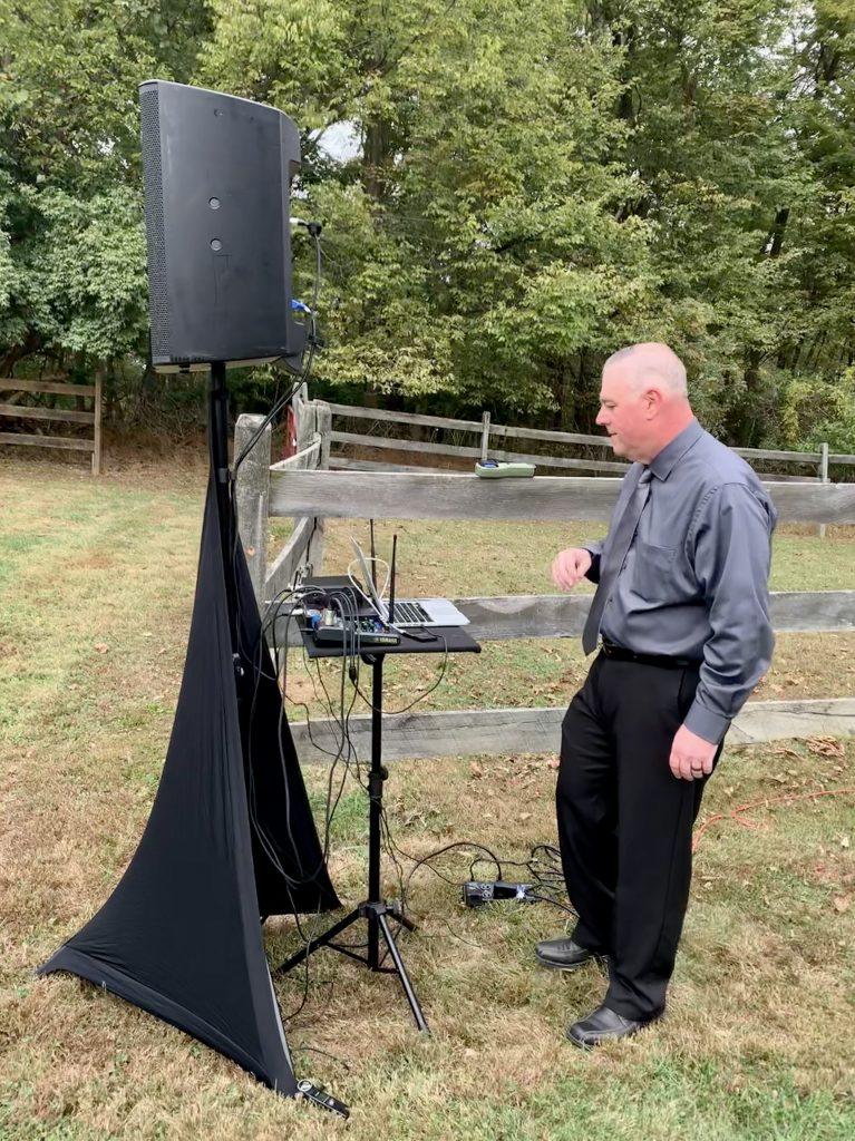 Professional DJ ceremony set up